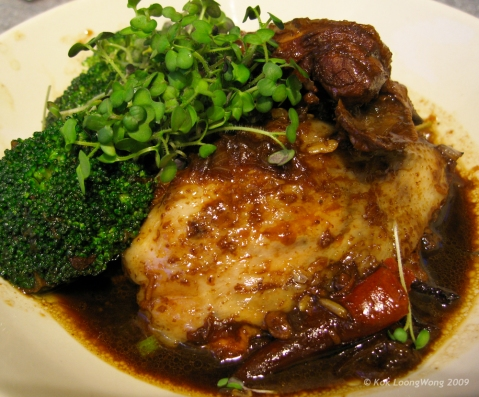 Braised chicken